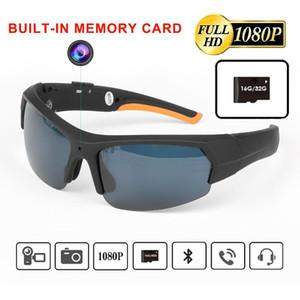 Accesorios ET HD1080P gafas de sol de la cámara Auricular inteligente mini cámara de los vidrios de múltiples funciones de Bluetooth MP3 Player Deportes 16/32 GB