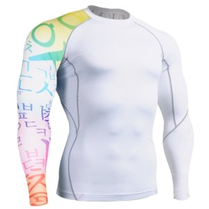 Men Casual Skinny Spandex T-shirt Gyms Fitness Bodybuilding Workout Long sleeve Tee shirt Tops Male Crossfit Clothing 0924