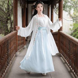hecha canción ropa china flor femenina de verano de lengua antigua de aprendizaje hembra de Super hadas saber antiguo estilo chino del traje del traje