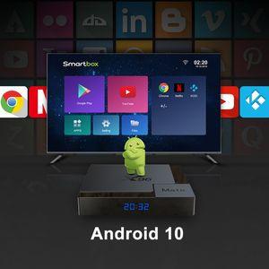 Wholesale X96 Mate newest led display android 10.0 tv box Allwinner H616 BT5.0 2.4g 5g wifi smart box 4g+32g 4g+64g