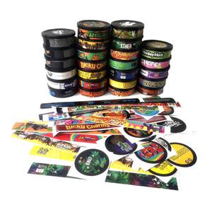 Boîtes d'étain avec autocollant 3.5 grammes presse pression canettes 73,3 * 24mm Tuna Tune Clear Clear Couvercle Noir Couverture Noir Meilleur DHL Free