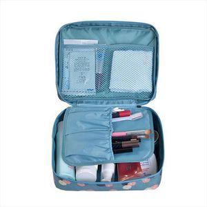 Travel Cosmetic Bag Organizer Nylon Make Up Bag Beauty Case Women Toiletry Bag Multifunction Waterproof Makeup Wash Pouch