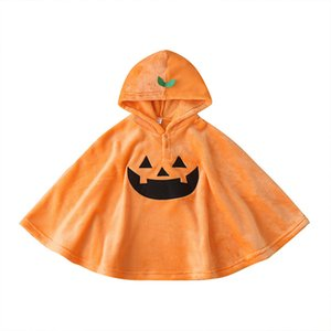Halloween shawl kids clothes girls boys pumpkin cloak children Poncho Spring Autumn fashion cape Boutique baby Clothing Z1395
