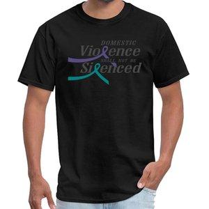 t 셔츠 S-6XL 힙합 상단 tishert 인쇄 가정 폭력은 성적 학대 인식 T 셔츠 티 t- 셔츠 여성
