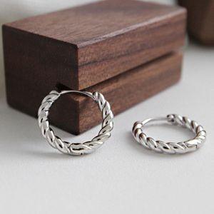 Twist small tiny huggie hoop earring 925 silver mini hinged ear cartilage tidal hoop piercing earrings for women gold fashion
