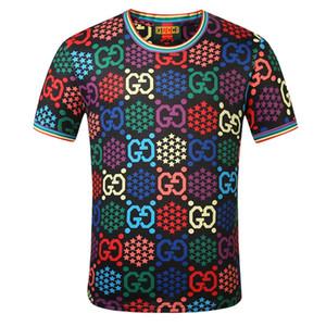 Волна Полосатых печати Mens Womens Дизайн футболка Уличной Париж Lovers Summer Crew Neck Tshirts Марка Tops Подростки с коротким рукавом футболки