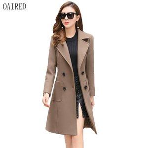 Herbst und Winter Wolle Parka Frauen Kleidung 2020 neue Wollmantel Frauen Oberbekleidung lange schlanke Damenmäntel OAIRED