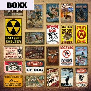 Man Cave Предупреждение Охотничий Tin Вход Урожай стены Декор для Farm House Gun Магазин Декоративная тарелка Hunter подарков Deer Poster YI-143