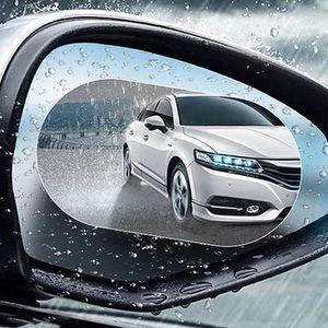 Waterproof Protective Film Sticker Universal Rearview Mirror Car Rainproof Film Car Window Transparent Anti-fog Scratch Proof Sticker VT1532