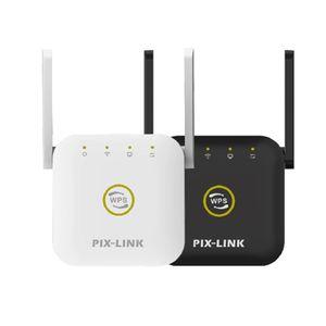 PIXLINK 300Mbps WIFI Repeater 2.4Ghz Wireless Mini расширитель маршрутизатор с 2 внешними антеннами домашней сети 802.11N / B / G WR22