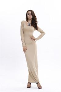 2020 Autumn clothes female leisure time Medium length Split Dress Long sleeves grey designer Made in China skirt longuette