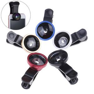 3 in1 Grande Angular Macro Fisheye Lens câmera móvel telefone lentes olho de peixe Lentes Para iPhone Smartphone Microscópio