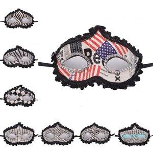 Pavillon masque masque masque masque drapeau drapeau fêtrice américain eye-liner brillant grille léopard promoteur américain tissu païens
