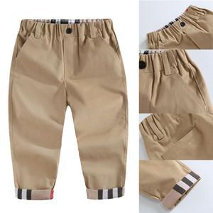 2020 Fashion Trend Frühling Kinder Junge Marke Plaid-Hosen-beiläufigen Herbst-Kind-Kind Kleidung Qualitäts-neugeborene Baby-Sport-Hose