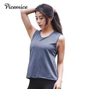 Picemice aptitud deportiva transpirable mujeres T Traje camisa de Yoga Deportivo Top secado rápido Correr chaqueta de la camisa gimnasia ropa deportiva