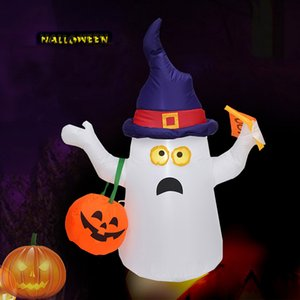 Halloween inflável livre DHL Fantasma Bonito Com A Abóbora bonito Sorriso Party Decoration U.S.And Europeia Regulamentos HH9-3287