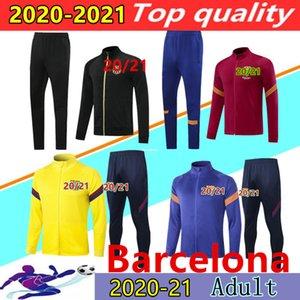 2020 2021 Высочайшего качества футбола тренировка пиджака Survetement 20/21 дель Chandal Мужского длинного рукав молнии футбол куртка футбол костюм