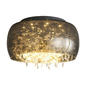 Postmodern simple iron glass ceiling lamp warm dining room bedroom decorative lamps 24W 36W Energy Saving Light