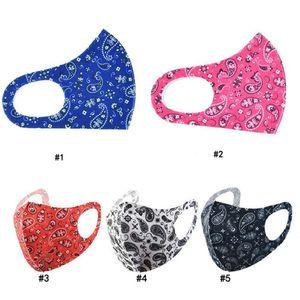 Máscara colorida Moda Female Face Dustproof personalizado reutilizável Boca capa lavável Designer Silk Cloth Máscara para Mulheres