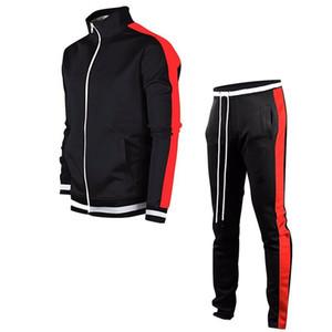 Erkek Tasarımcı Tracksuits Uzun Kollu Boyun Hırka Coat Pants İki Adet Set Kasetli 2PCS Suit Zip