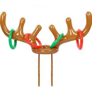 200pcs Забавный олень Antler Hat Ring Toss Рождественский праздник партия игры Supplies игрушки Дети Дети Рождество игрушки LX3274