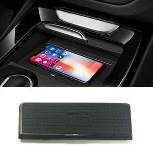 QI автомобиля Беспроводное зарядное устройство беспроводной телефон Зарядка для BMW X3 F25 X4 F26 2011-2017
