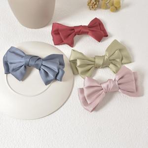Bow cabelo clipe retro feminino cetim cocar CLIP top net primavera vermelho ornamento hairpin clipe versão coreana de trás da cabeça