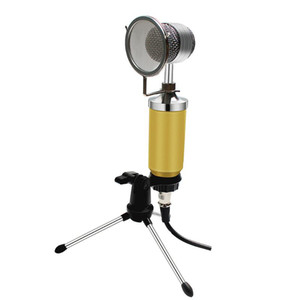 BM-8000 Tarjeta de sonido con cable de grabación con condensador Micrófono Karaoke Condensador Micrófono Kits para computadora audio vocal