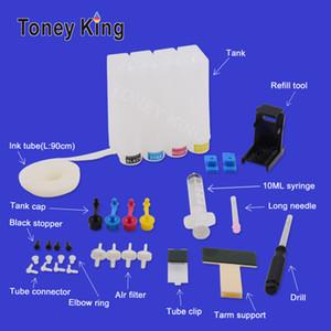 Toney Roi 4 Couleur Diy CISS Système d'encre pour 300 XL Cartouche d'encre Deskjet F2410 F2418 F2420 F2430 F2440 F2480 F2492 F2493 CISS