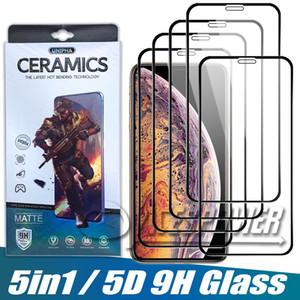Copa cheia de vidro temperado para iphone 12 pro máximo 11 x xs xr se 2020 pixel 3xl protetor de tela com pacote