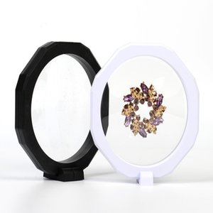 Octagon 128*20mm PET Membrane box Holder Floating Display Case Earring Gems Ring Jewelry Suspension Packaging Box