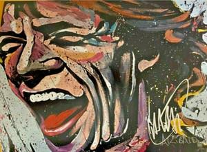 RARE DAVID GARIBALDI Mick Jagger decorazione domestica dipinta a mano HD Stampa della pittura a olio su tela di canapa di arte della parete della tela di canapa Immagini 200927