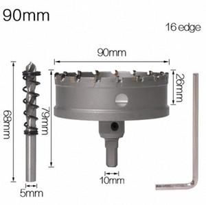 1PC 5A carburo punta TCT Drill Bit Hole Saw 90-115mm Drill Bit Set Hole Saw Cutter per acciaio inossidabile della lega del metallo di perforazione Bits JK03 #