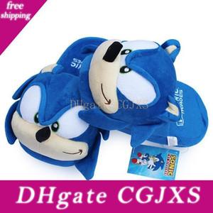 Sonic Hausschuhe Blau Plüsch-Puppe 11 Zoll Adult Plüsch Sonic Hausschuhe Freies Verschiffen