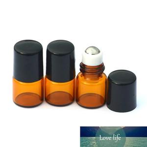 DHL العنبر زجاج 1ML الخالي العنبر لفة زجاجة معدنية الكرة الدوارة على عطر عينة من الضروري النفط السائل زجاج زجاجة شحن مجاني