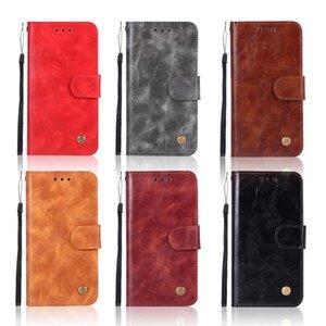 Cgjxsretro Pu cuir flip pour LG V30 K10 2018 G6 Q6 Q8 2 3 4 Stylo Plus X G7 THINQ puissance Portefeuille de style de couverture bourse