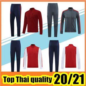 2020-2021 addensare rivestimento di calcio cime tuta uomini di calcio e pantaloni 20/21 Tailandia di alta qualità giacca addensare calcio
