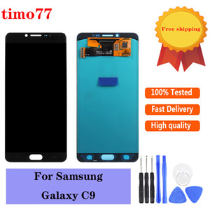 Super AMOLED For Samsung Galaxy C9 White Black LCD Display Replacement Touch Screen Digitizer Assembly free DHL