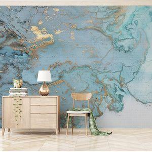 Custom AnySize 3D Mural Wall Cloth Lamp Luxury Wallpaper Texture Bronze Blue Blue Bedroom Living Room Room TV Background Wall Mural
