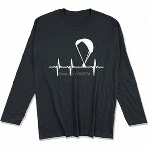 Parapendio Ecg maglietta Primavera Autunno Uomini cotone a maniche lunghe T-shirt divertente Hip Hop Tees Tops Harajuku Streetwear YjDI #