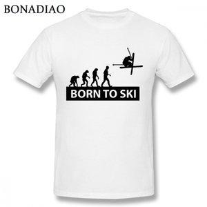 Evolution Born To Ski Tee Shirt Мужской Уникальный дизайн Sport Стильная футболка