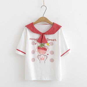 children Gilrs Students short sleeve Fruit lovely Tops &Tees 2020 new arrival comfortable material meshable