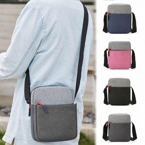 Men Waterproof Shoulder Bag Pockets Anti Theft Large Capacity Outdoor Messenger Bag J9 GbNG#