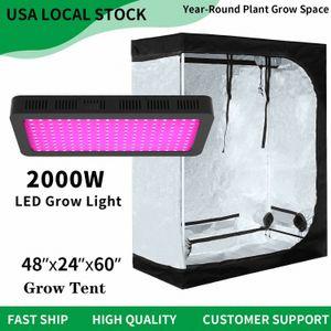 2000W LED wachsen Veg-Blumen-Anlage + 4'x2' hydroponischen Indoor Grow Kit 2qkx #
