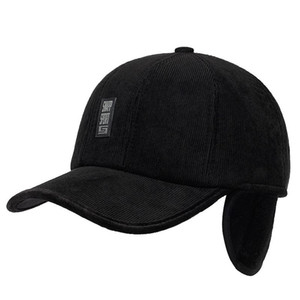 Зима и старые Высокая мода Осень Deerskin Теплые качества шапки Защита Cap Бейсбол Hat уха qPeXH