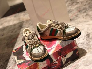 2020 Ladies Men Flat Sneakers Striped Retro Distressed Casual Dirty Style Chain Side Shoes Striped Ribbon Running Shoes Couple Shoes 36-45