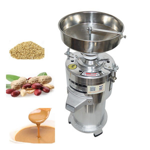 1100W Commercial Nuts Refiner Refiner 30kg / H Sésamo Miller Pistachio Crusher Moedor De Amendoim Cereais Cereais Pasta Máquina de Polping 2800 RPM