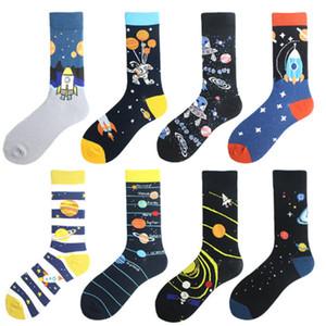 Männer Socken Bunte Alien Design Mode Lange Socken Durchschnittliche Größe Mens Dress Socken Funky Lustiges reizende Socken für Männer Frau weicher Baumwolle