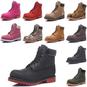 2020 nuevas botas impermeable al aire libre Red Winter blanca casual de invierno Formadores corte alto para mujer para hombre del cuero genuino caliente botas de nieve Deportes LmqB #