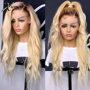 XUMOO Pre-plucked Cheap Remy Hair Body Wave Blonde Wig Human Hair 360 Lace Frontal Wig Blonde 360 Lace Wigs For Black Women
